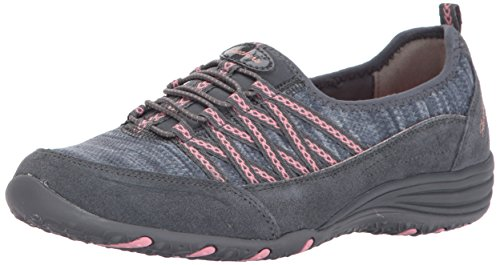 Skechers Unity-Eternal Bliss, Allenatori Donna Grigio (Charcoal/pink)