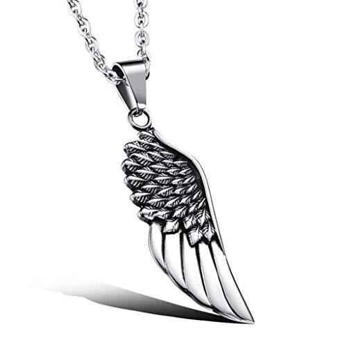 Personnalité Hommes 's Pendentif Bijoux, Pendentif Pour Hommes' Titanium Steel Single Wing Pendentif Cadeau D'Anniversaire Hypoallergénique, Thumby