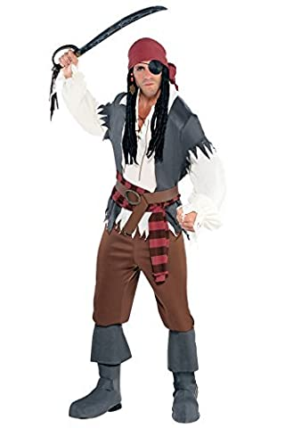M/L-Castaway Mans Captain Costume de Pirate pour