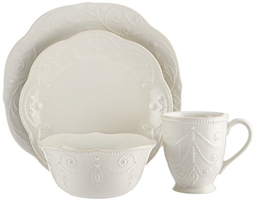 Lenox French Perle 4-Piece Place D ' 4-piece cutlery set for 1 place setting white