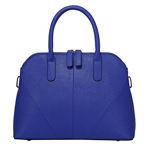 BAILIANG Leder Cross Bag Einzelner Schulterbeutel Mädchen Dame Arbeit Turnhalle Klassiker Reise,Blue-OneSize