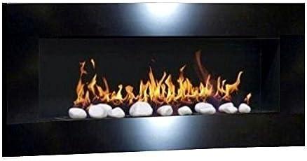 Ethanolkamin Gelkamin Kaminofen Wandkamin Design Don Fuego XXL + Gratis 24  Dekosteine