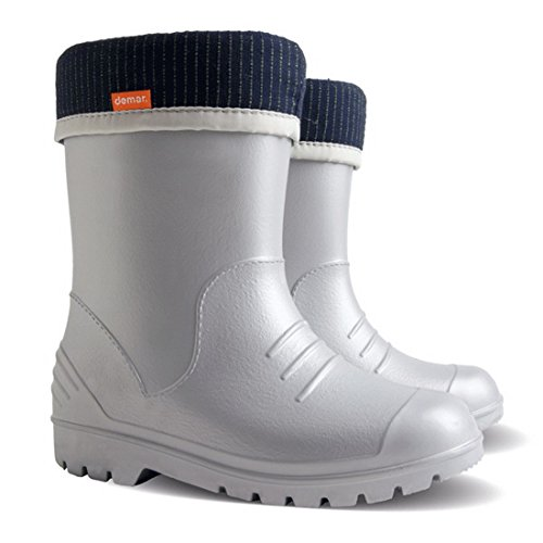 Ultralight Boys Girls Kids Warm Lined Rain Boots Wellington Boots Wellies Dino