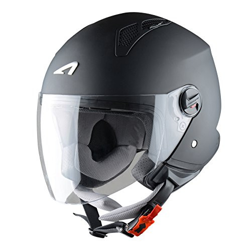 Casque jet homologu/é Casque jet 4 en 1 Astone Helmets Matt black M Casque de moto jet Coque en polycarbonate Elektron