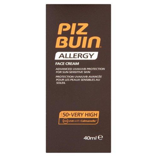 Piz Buin - Allergy - Crème solaire visage FPS 50-40 ml
