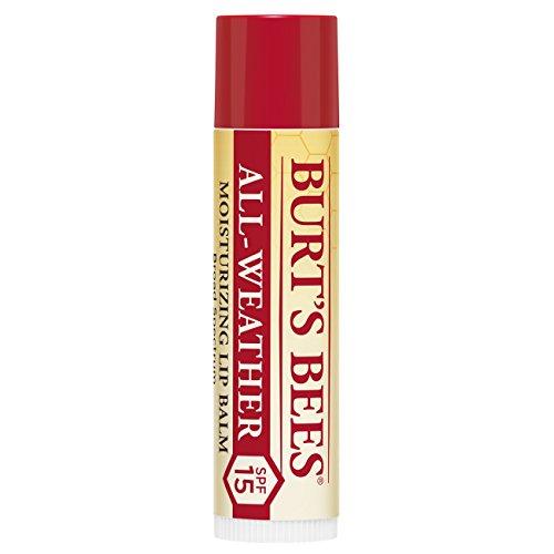 Burt's Bees feuchtigkeitsspendender All-Weather Lippenbalsam mit LSF15, 1er Pack (1 x 20 g)
