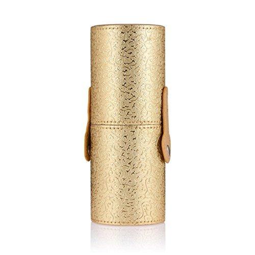 kingko® Trousse de maquillage/Voyage multifonction stockage Portable cas cosmétiques maquillage sacs organisateur brosse coupe du titulaire (or)