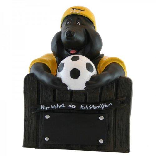 Fußball Mauli in gelbem Trikot (Gelb Fußball-trikot Home)