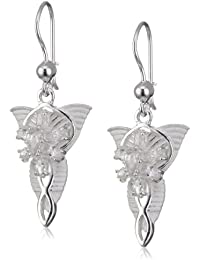 Lord of the Rings Sterling Silver Arwen's Evenstar Earrings