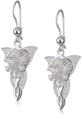 Herr der Ringe Schmuck by Schumann Design - Ohrringe Arwens Abendstern 925 Sterling Silber (Ringe Für Schmuck Machen)