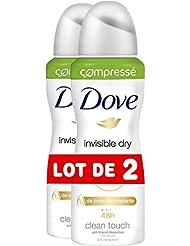 Dove Déodorant Femme Spray Anti Transpirant Invisible 100ml - Lot de 2