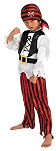 Raggy Pirate Boy - Childrens Fancy Dress Costume - Small - 104cm - Age 3-4 Years