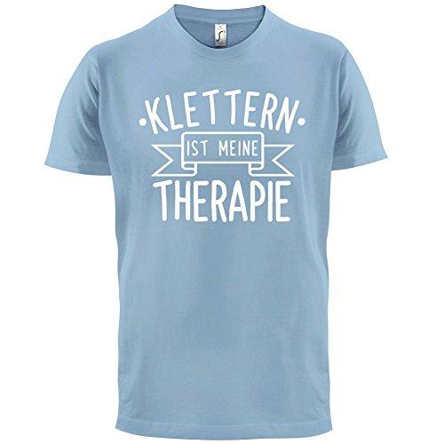 Klettern ist meine Therapie - Herren T-Shirt - 13 Farben Himmelblau