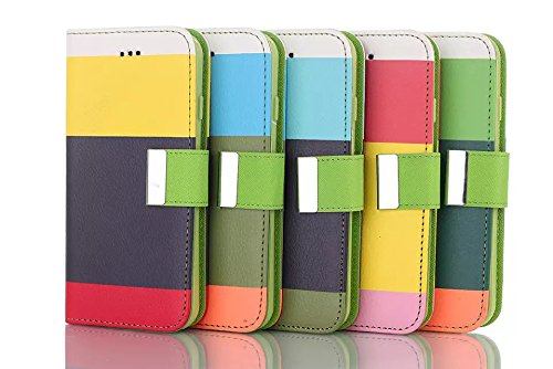 IPhone 6 6S Plus Case,klassische Bunte Streifen - Design Folio Pu Ledergeldbeutel Fall Decken Mit Stehen / Card Slot Für Iphone6 65 Plus ( Color : 1 , Size : Iphone6 6s Plus ) 5
