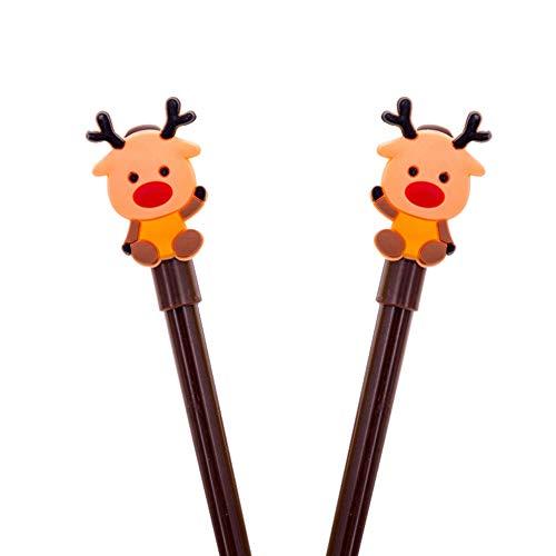Yunnuopromi 2pcs christmas santa snowman cervo 0.38mm inchiostro gel penne per scuola cancelleria forniture