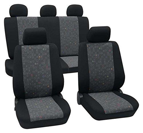Preisvergleich Produktbild Sitzbezug Schonbezug Autositzbezug, Komplett Set, Alfa Romeo 145, Schwarz, Graphit