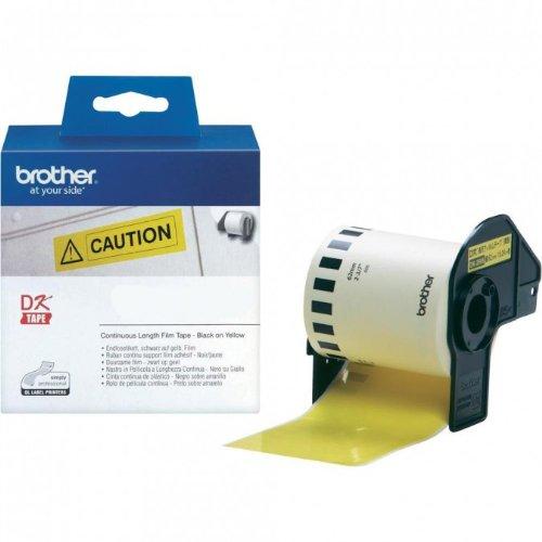Preisvergleich Produktbild P-Touch QL 720,  QL 720NW Brother Etiketten Gelb 62 mm x 15,  24 meter,  Film,  1 Endlosetikett,  DK Label für Ptouch QL720,  QL-720 NW