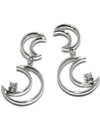 Gioie Women's Earrings in White 18k Gold with Diamond H/SI, 4.4 Grams