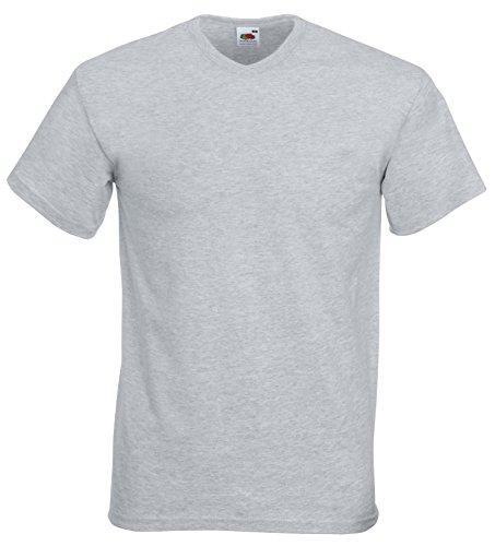 Fruite value weight of the Loom T-Shirt V-Neck, vers. Disponibile in vari colori Erica grigio
