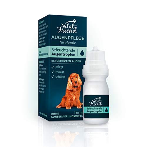 Vital-Friend – sanfte Augenpflege & Augenreinigung für Hunde - ohne Konservierungsmittel - befeuchtende Augentropfen, Schutz, Pflege, 10 ml