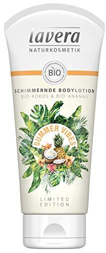 Lavera Summer Vibes Schimmernde Bodylotion ? Bio-Kokos & Bio-Ananas ? Vegan Bio Pflanzenwirkstoffe Naturkosmetik ? 2er Pack (2 X 200 Milliliters)