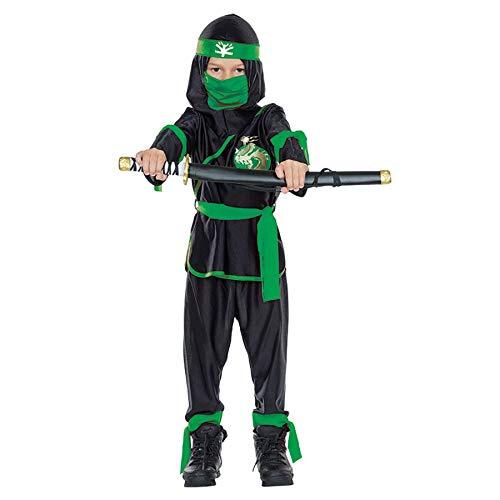 tüm Ninja schwarz-grün Karneval Fasching Gr.164 ()