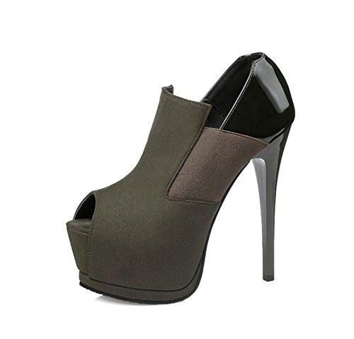 XINJING-S Peep Toe High Heels Schuhe Party Hochzeit Frauen Pumps Heels Kleidung Schuhe GWS 106 Grün
