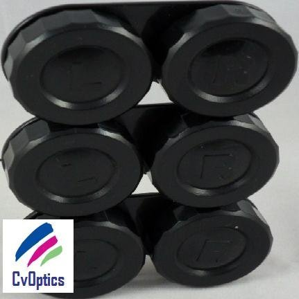 3Stück Stilvolles Schwarz Standard Kontakt Objektiv Einweichen (Schwarz Objektiv Kontakt)