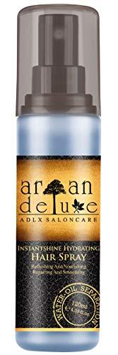 Argan Deluxe 2-Phasen-Feuchtigkeitsspray in Friseur-Qualität 120 ml - hochwirksame entwirrende Pflegeformel