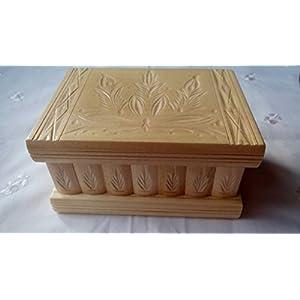 Neu Natur lackiert Holz Magie Rätsel Puzzle Geheimfach Schmuckkasten schön handwerk handarbeit Holz schatulle…