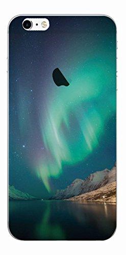 MPPK-Hamburg ® Apple iPhone ® 6 Plus / 6s Plus 5,5 Zoll Schutz Hülle - Case in wunderschönem Design – Stabiles / transparentes PC - Polarlichter Grün Aurora Borealis dark Green
