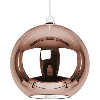 Modern copperbrown glass ball ceiling pendant light shade amazon modern copperbrown glass ball ceiling pendant light shade mozeypictures Image collections