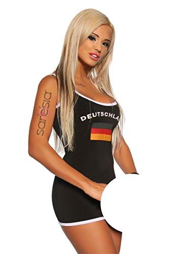 Preisvergleich Produktbild Saresia Fußball Partykleid schwarz-44/46 Damen