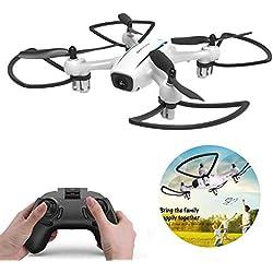 WINGLESCOUT Drone sin cámara y Pantalla, HD WiFi RC Drone con 120º Gran Angular y Quadcopter RTF Altitude Hold, Flip 3D, Modo sin Cabeza,One Key Return, Drones para ninos y Principiantes