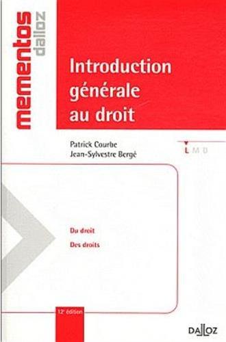 Introduction générale au droit - 12e éd.: Mémentos