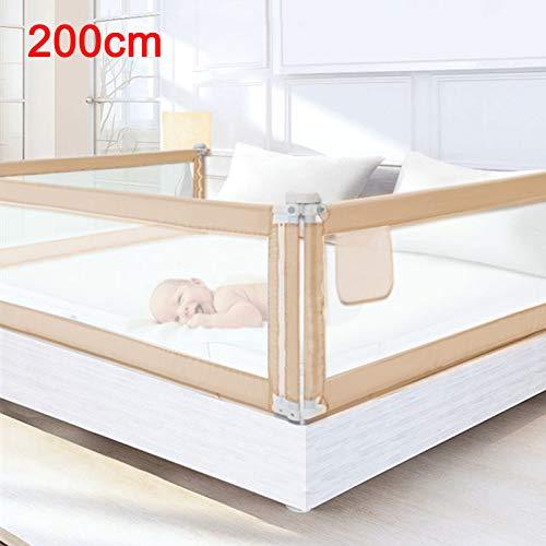 DHOUTDOORS 200×80cm Bettgitter Kinderbettgitter zum vertikalen Heben Sicherheitsschutz Bettgitter zum Schutz vor Stürzen für Kleinkinder Babys und Kinder (1Seite)