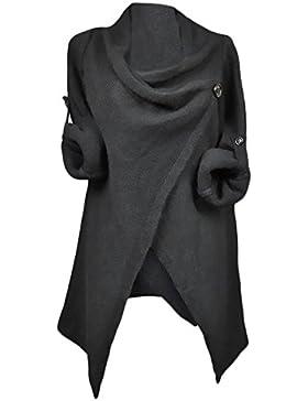 Mujer Jerséis De Punto Manga Larga Asimetricas Abiertas Suéter Outerwear Invierno Otoño Casual Anchos Moderno...
