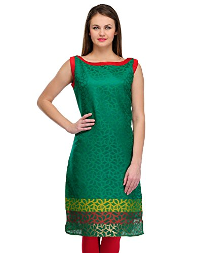 Cenizas Casual Sleeveless Self Design Women's Kurti  available at amazon for Rs.299