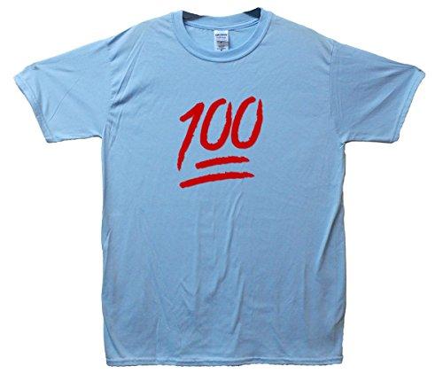 100 Emoji T-Shirt Hellblau