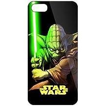 iPhone 5c Star Wars Carcasa de Telefono / Cubierta para Apple iPhone 5C / Protector de Pantalla y Paño / iCHOOSE / Yoda Lucha