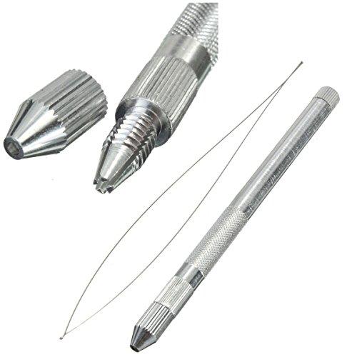 115mm metallo micro anelli perline uncinetto dispositivo Pesce filo ago