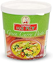 Mae Ploy, Green Curry Paste, Thai Curry, Multi-Purpose Uses Paste , Natural Spices, MSG-Free - ( Pack of One ,