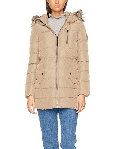 ONLY Damen Jacke Onldana Nylon Coat Otw Beige (Simply Taupe Detail:Melange), 42 (Herstellergröße: XL) (Nylon-reißverschluss-taschen)