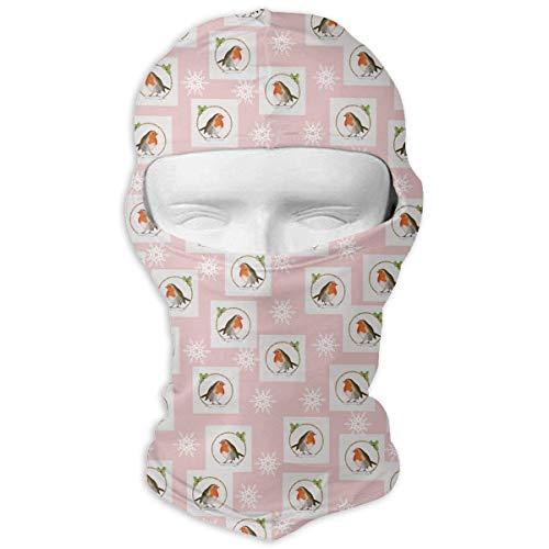 Xukmefat Robin Snowflake Rosa Briefmarken Ski Maske Fahrrad Gesichtsmaske Rohr Schal Headwear 3D Magie ()