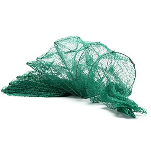 Daxey - 1.5m 11 Intervalle Angeln Faltbare beweglicher Crayfish Catcher lebende Fisch-Garnele-Köder Nylon Nets -