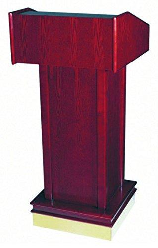 Rednerpult Stehpult Rednerstation Podium Kanzel Holz mit Rollen und abschließbarem Fach