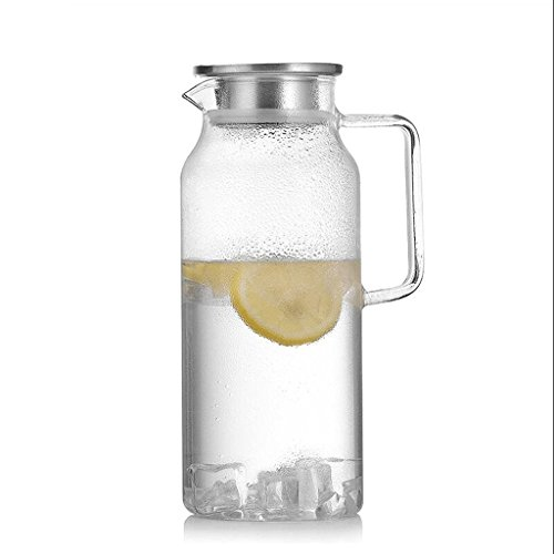 ZHAOJING Verre résistant à la chaleur Bouteille d'eau froide Set Ménage 2 litres grande capacité tasse théière empilée tasse de bouteille d'eau ( Capacité : 2000ml )