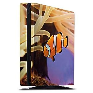 DeinDesign Skin kompatibel mit Sony Playstation 4 Slim Aufkleber Folie Sticker Anemonenfisch Clownfisch Nemo Fisch