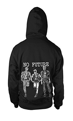 No Future Kapuzen-Sweatshirt Hoodie Kapu Pullover Punk Superhelden Skull Punx Punk Skull Sweatshirt
