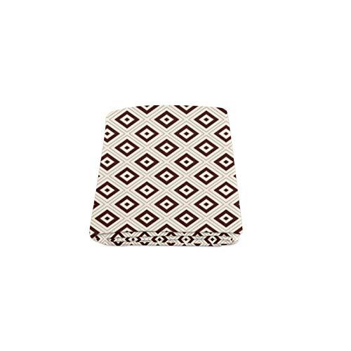 Geometrische Diamant Muster Benutzerdefinierte Winter Leicht Komfortable Pelz Fuzzy Super Soft Fleece Couch Sofa Und Bett Decke Für Baby Frauen Größe 40x50 Zoll (Festliche Pelz-garn)